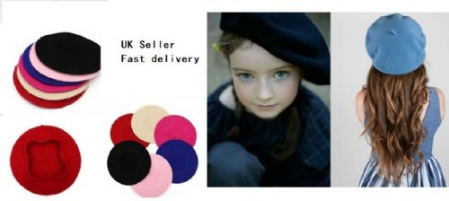 Kids Children Unisex Wool Warm Beret Beanie Hat Cap French Style Gift